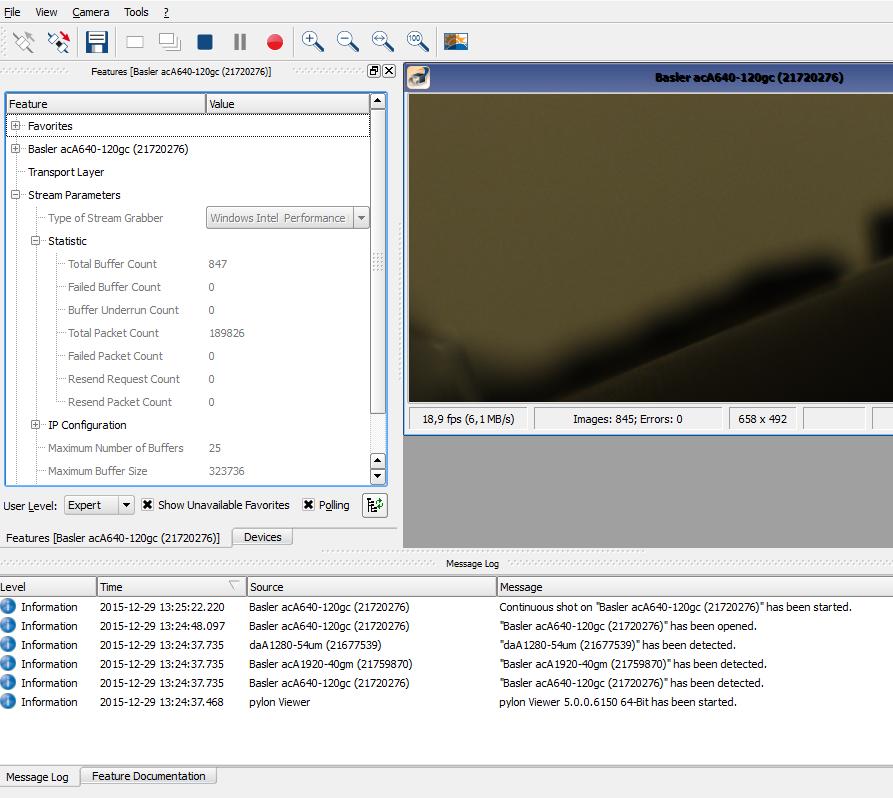 Basler pylon software